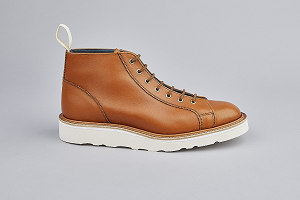 SS19 Ethan Monkey Boot in Gold Side View