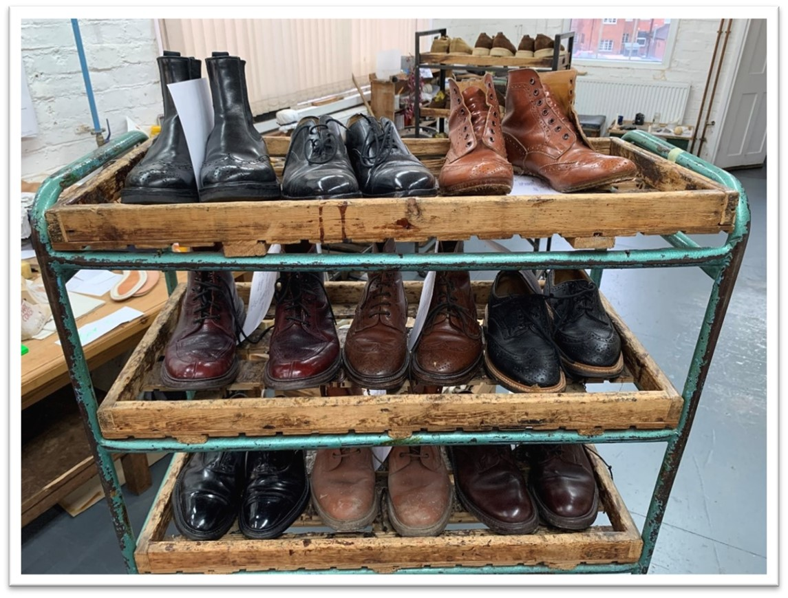 Tricker's Shoes Waiting For Repair
