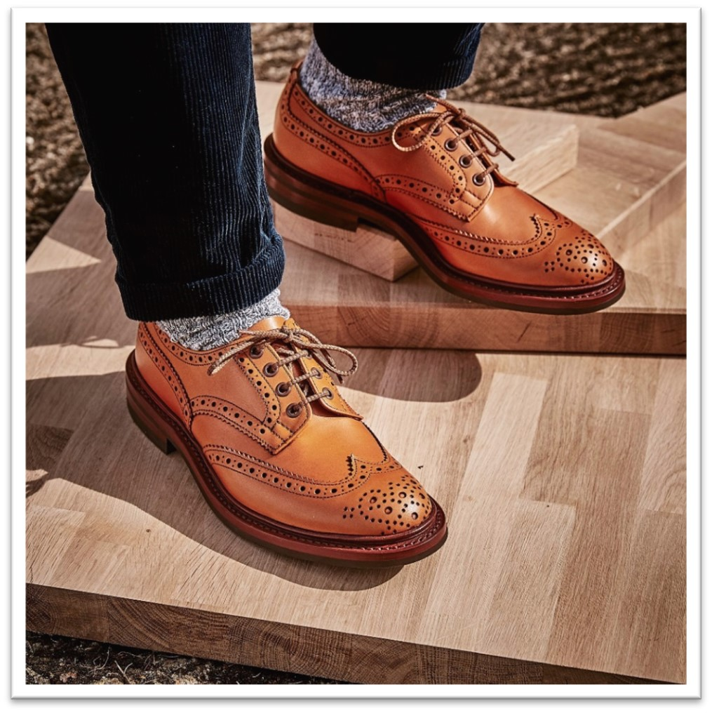 Bourton Brogue in Acorn Antique Calf Leather